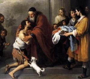 Incontro del Padre Misericordioso col figlio prodigo